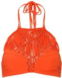 Mikoh Coral Braided Waimea Bikini Top