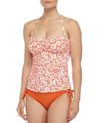 Splendid Flower Market Soft Cup Bandini Swim Top Orange