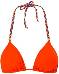 Lazul Orange Nubia Triangle Bikini Top