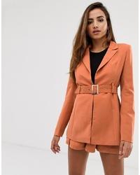 Missguided Blazer Co Ord In Orange