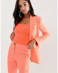 ASOS DESIGN Fluro Pink Suit Blazer