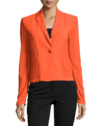 Versace Long Sleeve One Button Jacket Orange