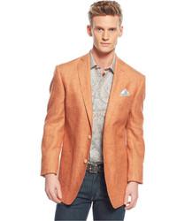 Tallia Orange Tan Herringbone Blazer