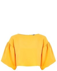 Topshop Structured Puff Sleeve Top