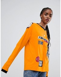 Asos Top With Long Sleeve And Branding Badges
