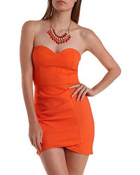 Charlotte Russe Ruched Strapless Bodycon Dress