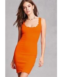 Forever 21 Kikiriki Distressed Ribbed Dress