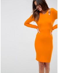Asos Mini Cut Out Shoulder Bodycon Dress