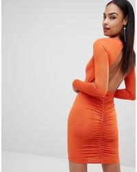 Missguided Ruched Back Mini Dress