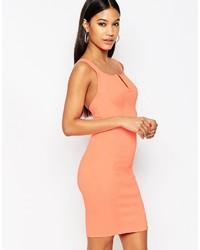 Wow Couture V Neck Bandage Mini Dress