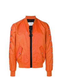 Orange Bomber Jacket