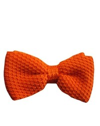 Dmitry Orange Italian Knitted Silk Bow Tie