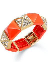Juicy Couture Bracelet Orange Pyramid Stretch Bracelet