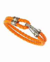 Classic chain hook station bracelet orange medium 3749525