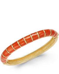 Charter Club Erwin Pearl Atelier For Gold Tone Striped Hinged Bangle Bracelet Only At Macys