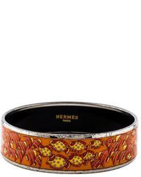 Hermes Herms Wide Enamel Bracelet