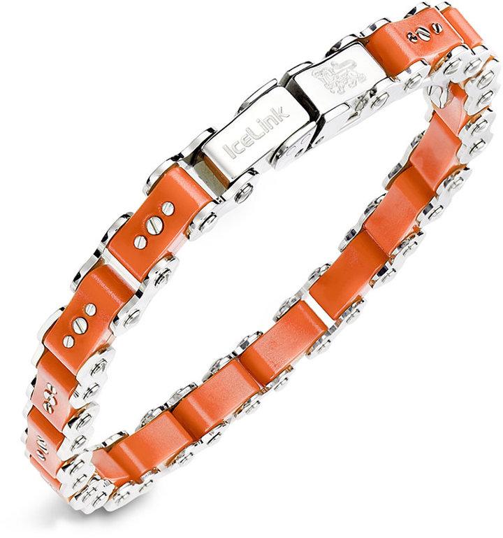 Icelink Stainless Steel Bracelet Small Orange Bicycle