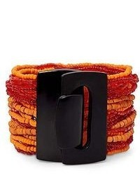 jcpenney Mixit Orange Bead Multi Strand Bracelet