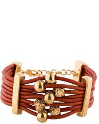 Alexander McQueen Orange Skull Bracelet