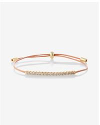 Express Pave Pull Cord Bracelet