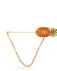Pineapple crystal embellished brooch medium 3643407