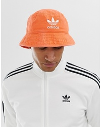adidas Originals Bucket Hat In Orange