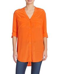 Silk button down blouse medium 299133