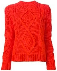 Orange cable sweater original 1335723