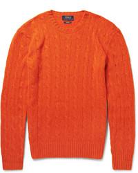 Orange Cable Sweater