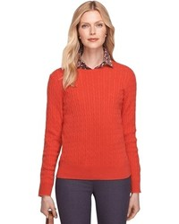 Brooks brothers cashmere cable crewneck sweater medium 103551