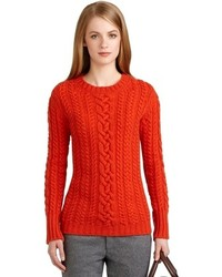 Brooks brothers cashmere cable knit crewneck sweater medium 103552