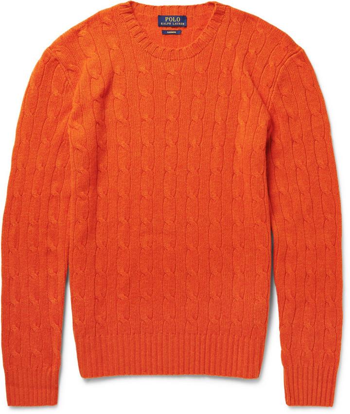 Polo Ralph Lauren Polo Ralph Lauren Cable-Knit Cashmere Sweater ...