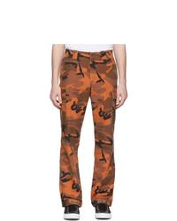 McQ Alexander McQueen Orange Camo Alex Cargo Pants