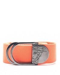 Versace Collection Medusa Head Canvas Belt