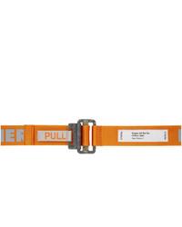 Heron Preston Orange Reflective Logo Tape Belt