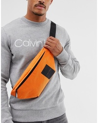 Calvin Klein Item Story Logo Bum Bag In Orange