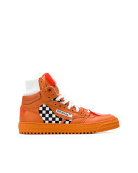 Orange Canvas High Top Sneakers