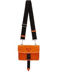 Versace Orange Small La Medusa Messenger Bag