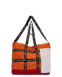 Orange Canvas Tote Bag
