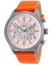 Versus Soho Chrono Orange Canvas White Dial