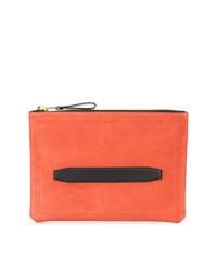 Orange Canvas Zip Pouch
