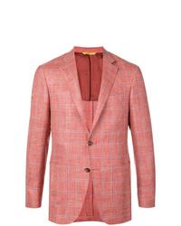 12e9fd8126bb Men's Orange Blazer, Light Blue Vertical Striped Dress Shirt, Orange ...