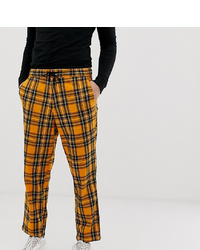 Orange Check Chinos