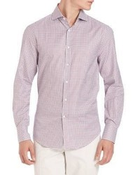 Brunello Cucinelli Double Check Oxford Shirt