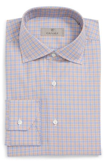 ef04a1f5f3d ... Canali Regular Fit Check Dress Shirt