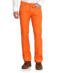 Saks Fifth Avenue Collection Five Pocket Cotton Trousers