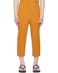 Homme Plissé Issey Miyake Yellow Monthly Color April Trousers