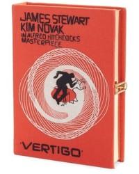 Hitchcock vertigo book clutch orange medium 4912977