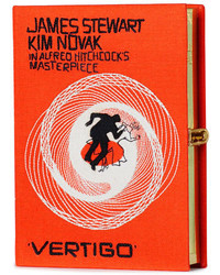Olympia Le-Tan Vertigo Movie Poster Clutch Bag Orange