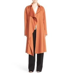 Cascade front wool cashmere coat medium 827527